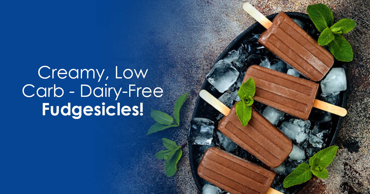 Creamy, low carb dairy-free fudgesicles.