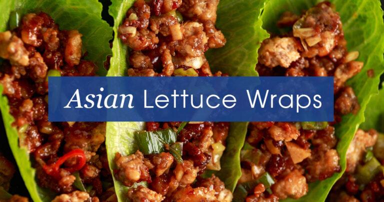 Asian lettuce wraps recipe.