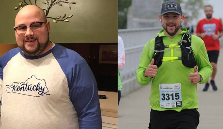 Cook's weight loss transformation